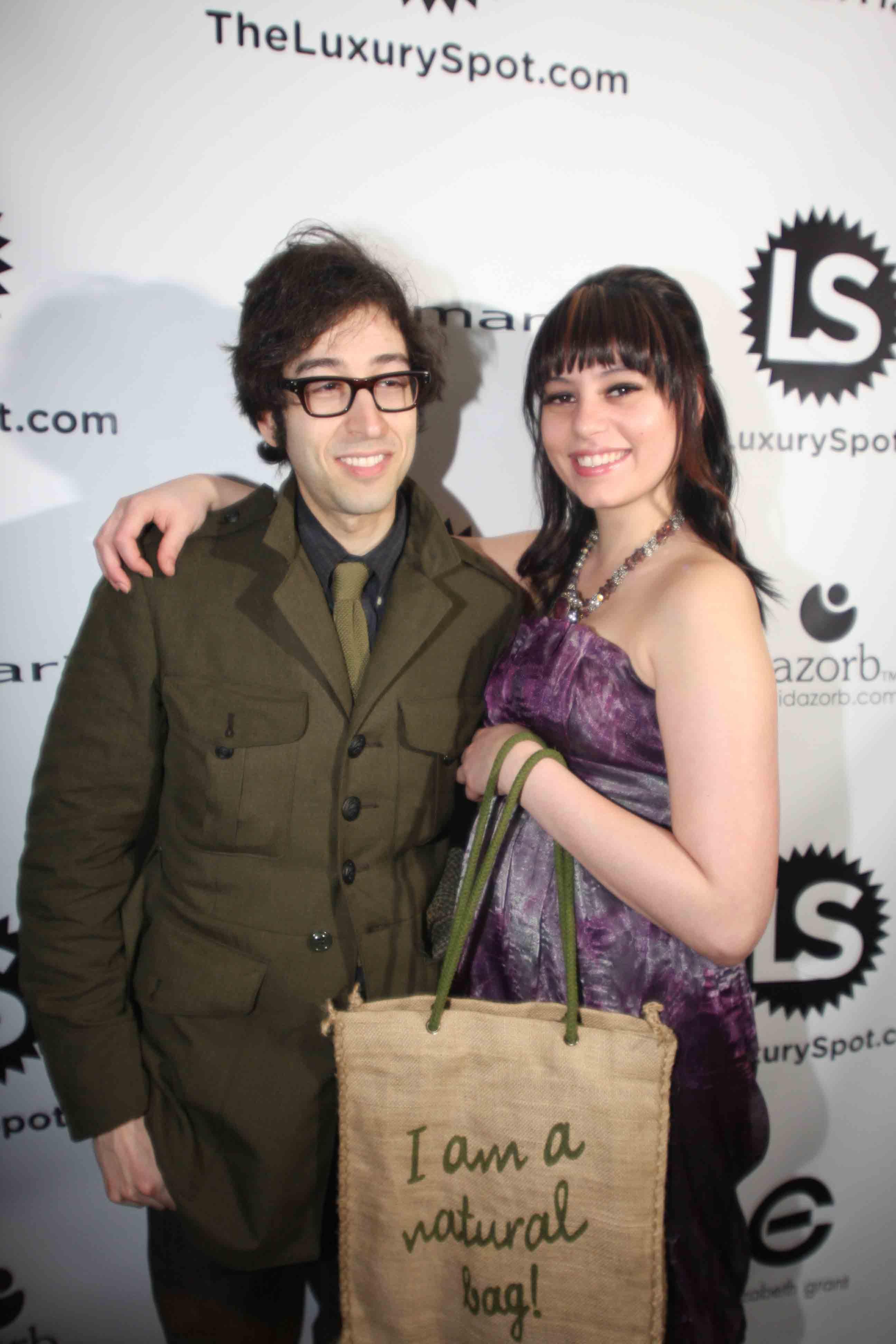 Aaron Short & Steph carrying our Beautorium.com Swag Bag