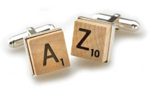 Scrabble Cufflinks $80 at Eco-Artware.com