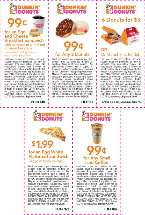 Dunkin Donuts Free Sandwich Coupon