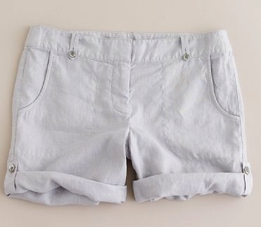 J.Crew Linen Shorts in Mineral Grey - $14.99