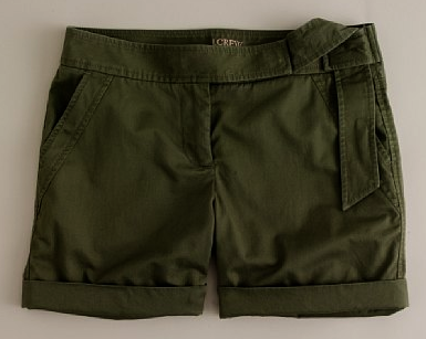 J.Crew Knotted Short in Spruce $14.99