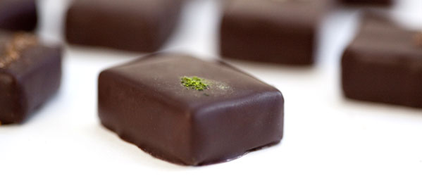 nicobella  Ginger Green Tea Vegan Dark Chocolate Truffle