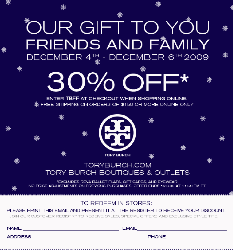 f775f3f47796 Tory Burch - 30% Off!