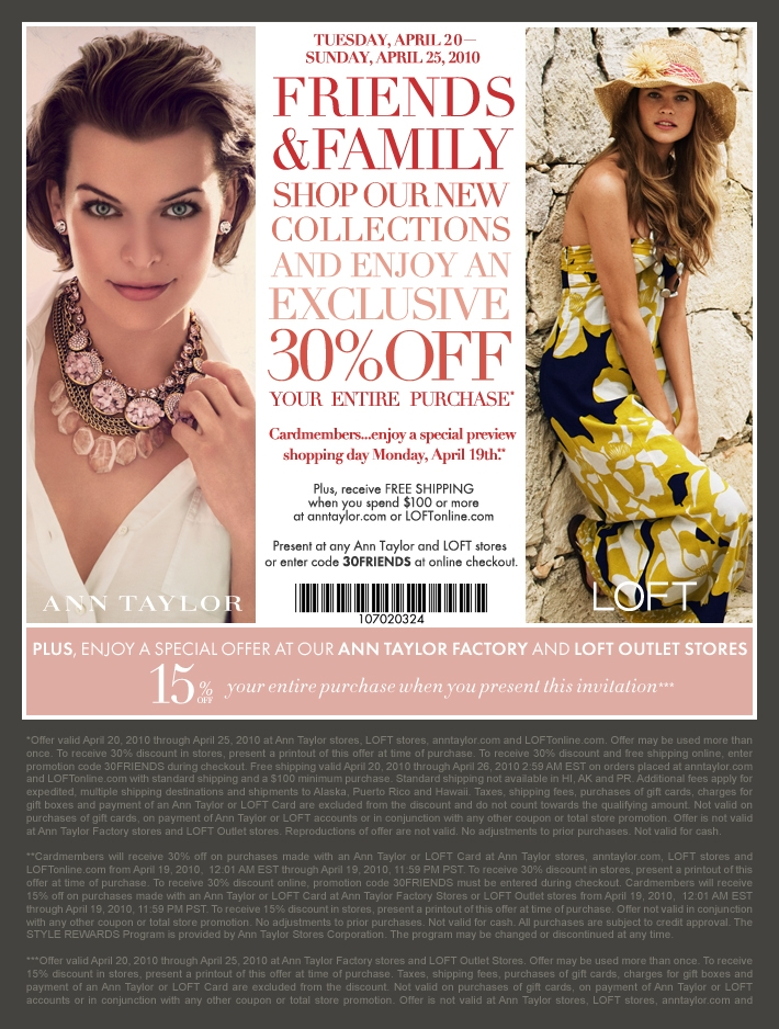 30 Off Ann Taylor The Luxury Spot