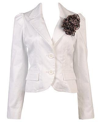 forever21 white blazer