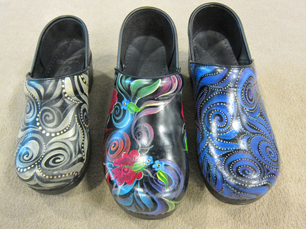 Hand Painted Wooden Clogs