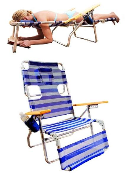 I donu0027t know about you but figuring out a comfortable way to simultaneously tan and read is the bane of my existence. Never fear this chair is here.  sc 1 st  The Luxury Spot & The Perfect Beach Chair