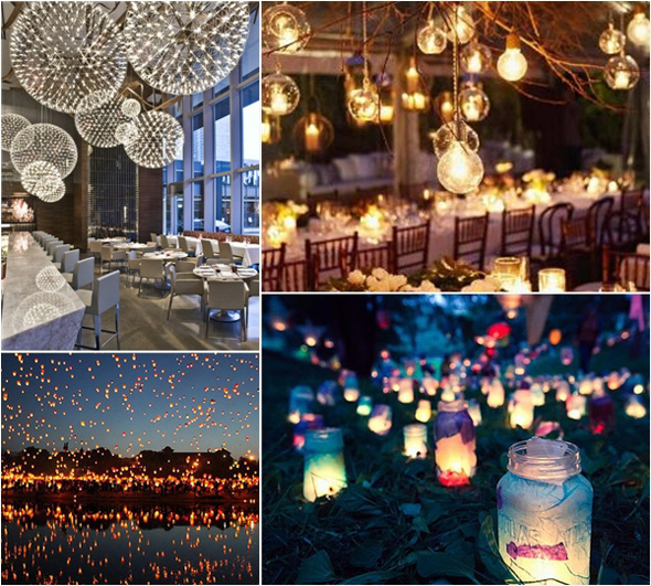 Decor Spotting Ideas For Unique Wedding Lighting