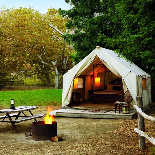 tent cabin camping romance