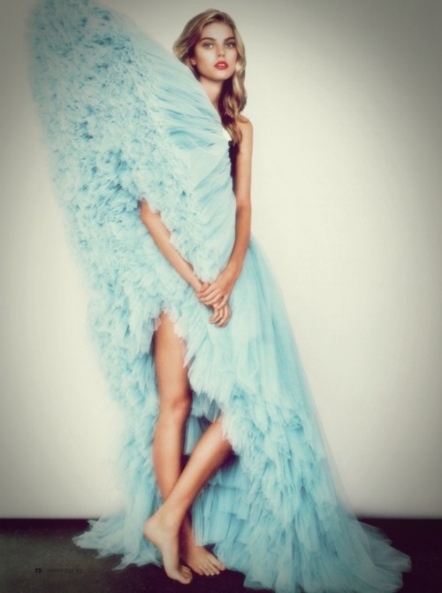 couture gown photography blue