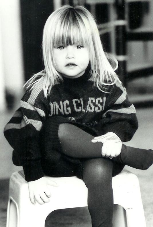 Bar Refaeli as a child