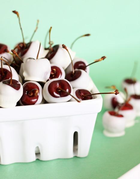 amaretto soaked white chocolate cherries