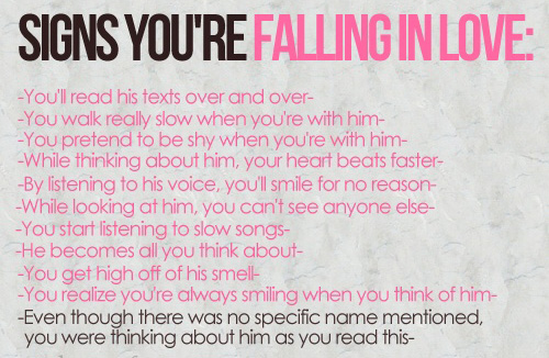How can you tell if you re falling in love