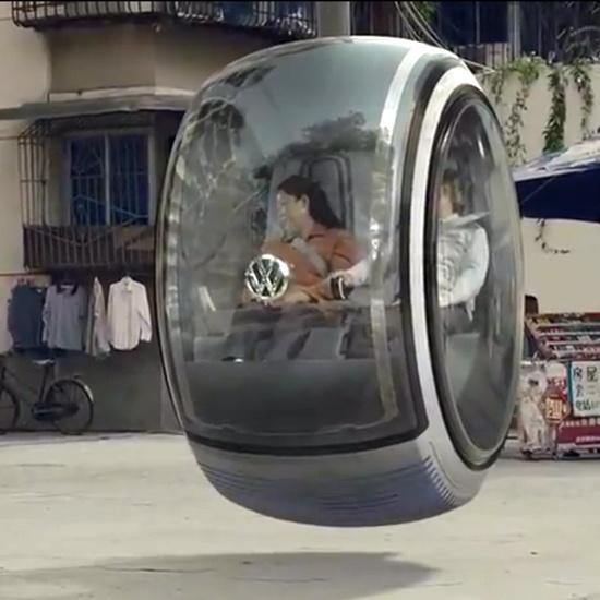 volkswagon floating car