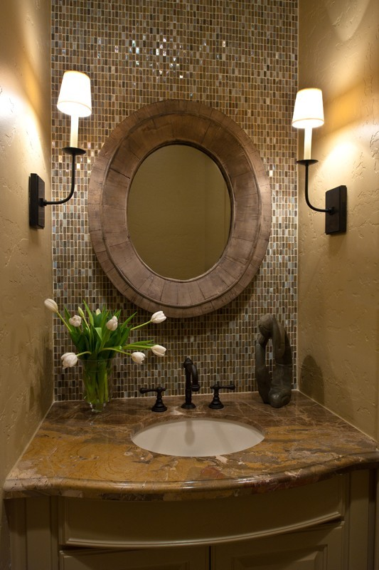 Elegant half bathroom