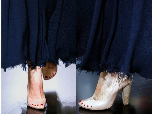 celine runway shoes toenails