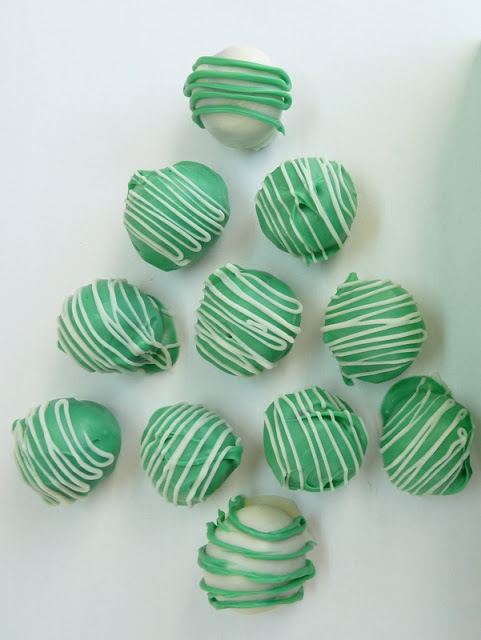 Thin Mint Truffles Christmas Tree
