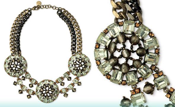 stella and dot statement bib necklace