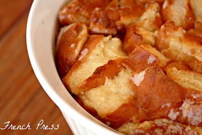 glazed donut bread pudding