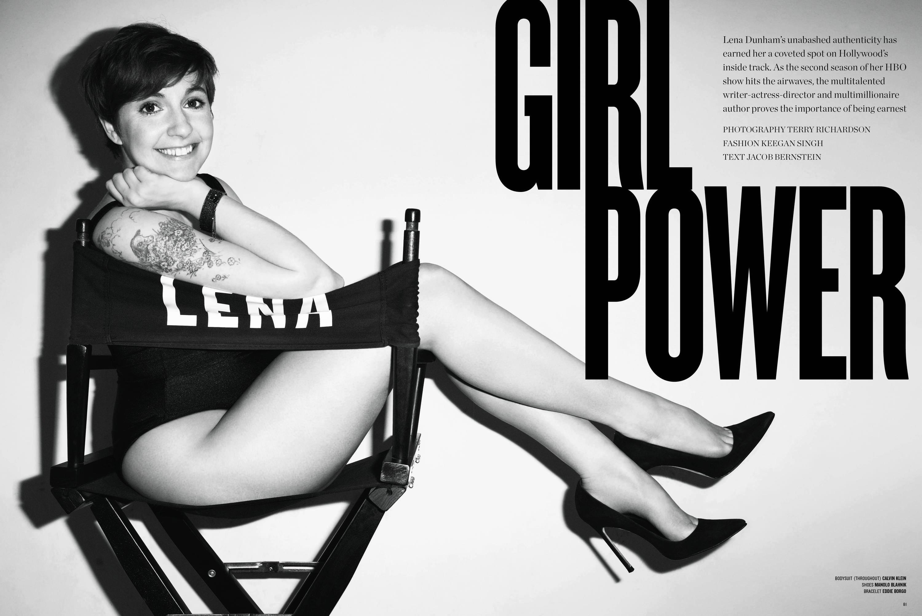 Lena Dunham VMagazine Terry Richardson