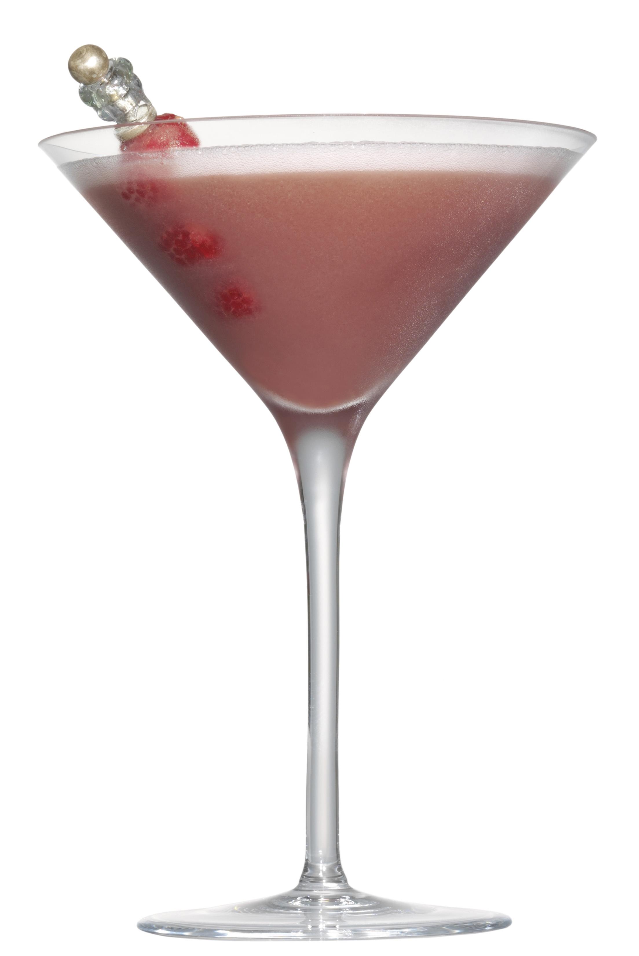 Raspberry White Chocolate Truffle martini