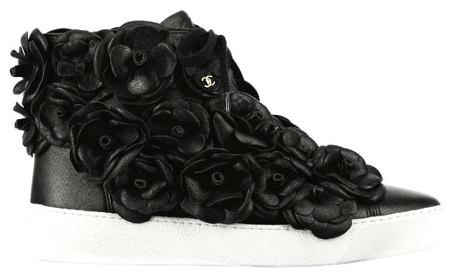 chanel floral sneakers
