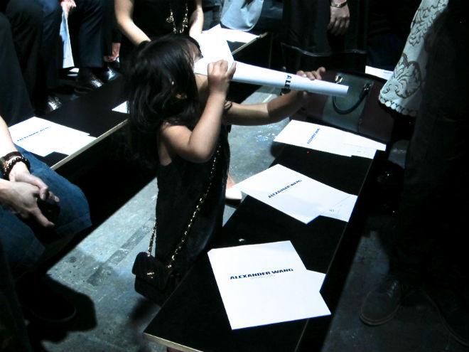 Alia wang at the show