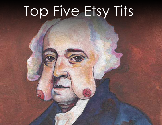 Top five etsy tits