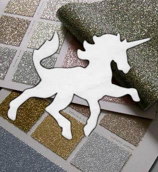 unicorns and glittery wallpaper
