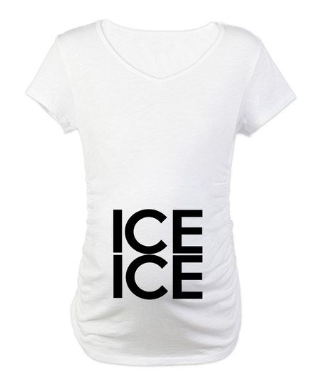 maternity shirt ice ice baby