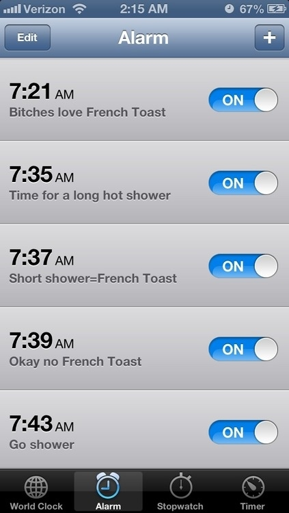 Alarm french toast
