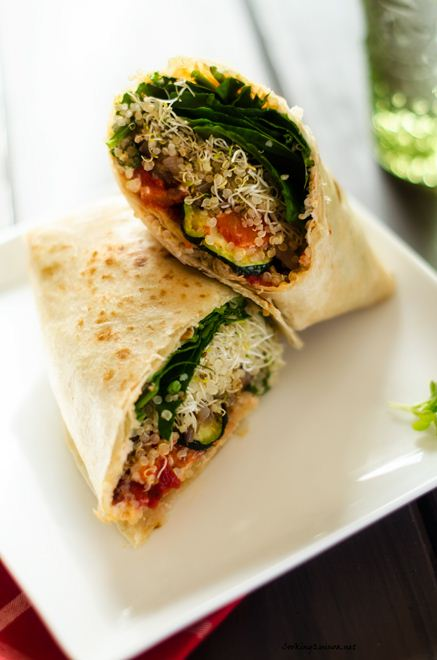 Grilled Vegetable Quinoa Wrap