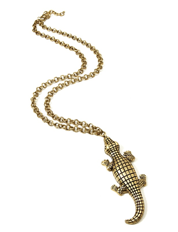 "Rara Avis by Iris Apfel ""Large Gator"" Drop Necklace"