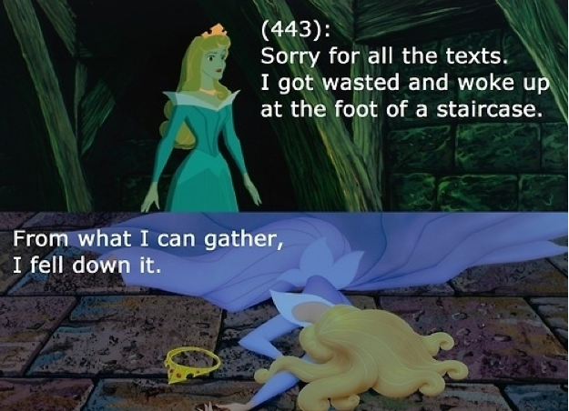 disney princess texts from last night