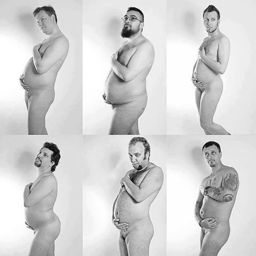 pregmancy pregnant man beer belly