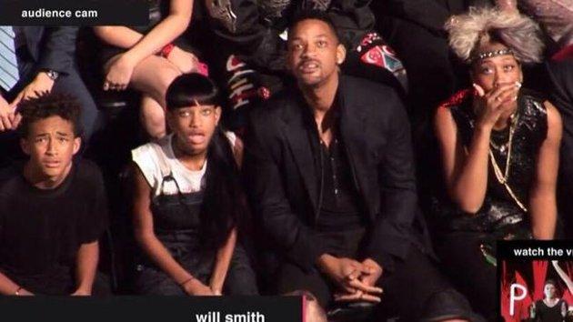 will smith family reaction