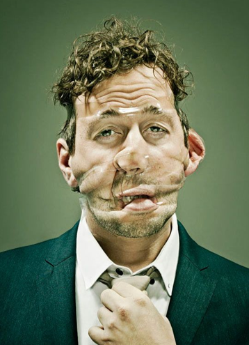 taped faces