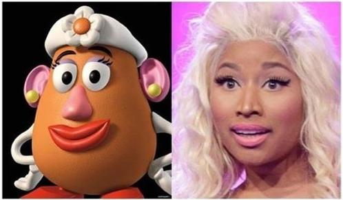 celebrities and cartoon lookalikes