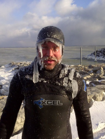 winter surfing great lakes