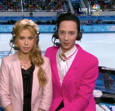 johnny weir pink blazer