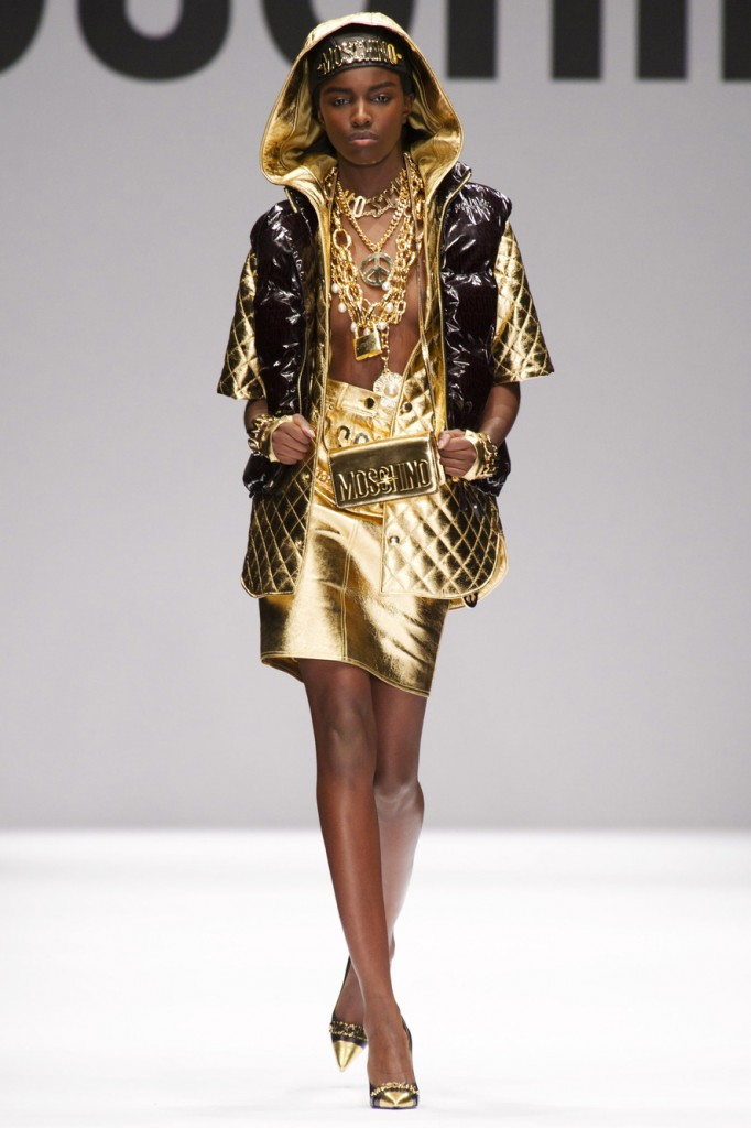 4d9dd98e6778 moschino fall 2014. Looks like Jeremy Scott consulted Trinidad James ...