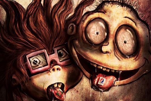 childhood cartoon drug addicts