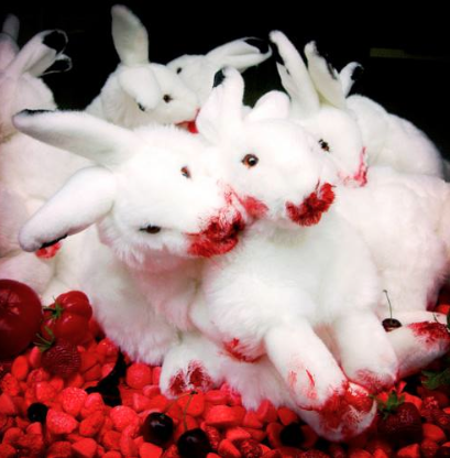 bunnies eating cherries
