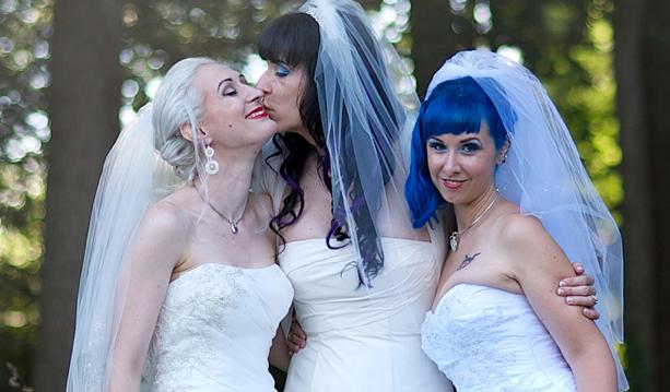 married lesbian throuple
