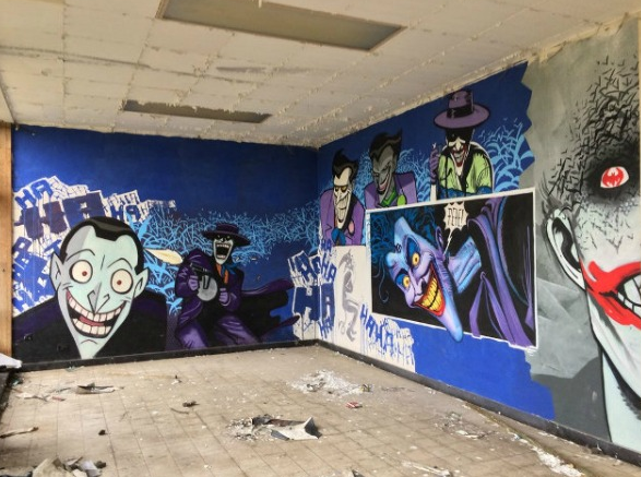 abandoned building art