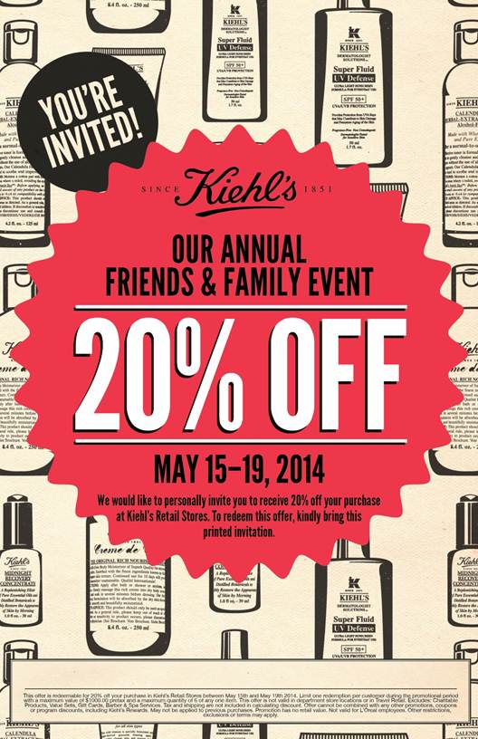 Kiehl's Friends and Family Discount