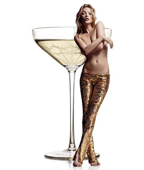 kate moss breast champagne glass