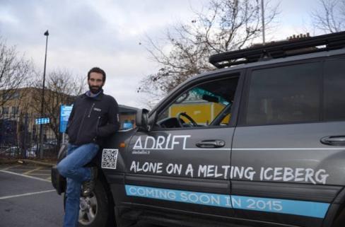 man lives on melting iceberg