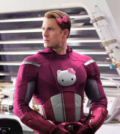 male superheroes and hello kitty