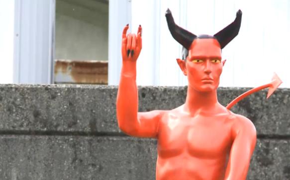 devil dick statue